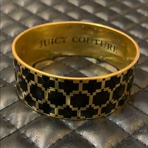 Juicy Couture Gold Houndstooth Print Bangle